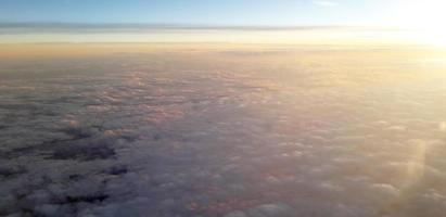Cloudy skies from the view of a plane photo