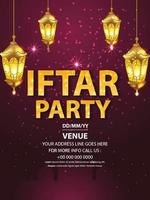 Iftar party flyer or poster vector