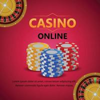 Casino gambling game with casino chips vector