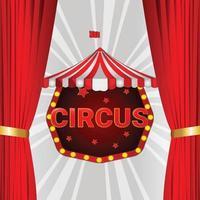 circo de carnaval tridimensional y de fondo vector