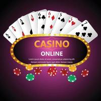 Casino brazilian gambling game with playing cards and dice vector