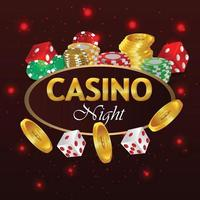 Casino online luxury gambling game playing cards and chip vector
