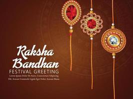 Happy raksha bandhan indian festival background with creative illustration vector