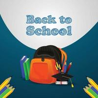 Back to school background with vector illustration