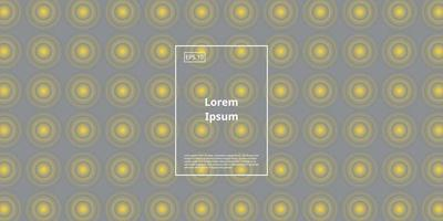 trendy background with yellow circle isolated on grey background vector