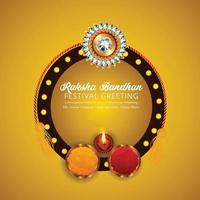 festival indio raksha bandhan tarjeta de felicitación vector