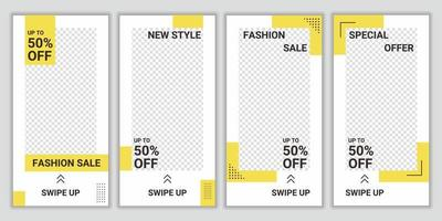 Set of trendy editable modern social media banner template. Creative social media post template collection. Web banner for social media promotion. Special offer for fashion sale collection vector