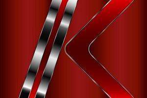 fondo rojo metalizado de lujo vector