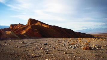 Death Valley in California with a blue sky photo