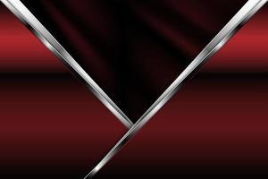Metallic red banner background vector