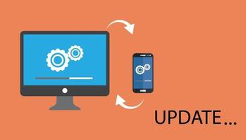 actualización de datos o sincronizar con el proceso de la barra. vector