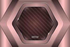 Metallic dark pink banner background vector