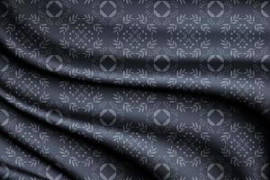 Fondo de seda azul con patrón floral sin costuras vector
