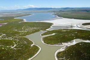vista aérea del desierto de california foto