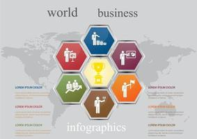 World business infographics template. vector