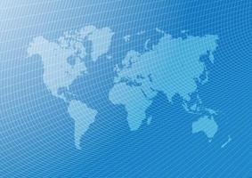 World map blue background. vector