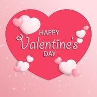 Fondo de tarjeta de felicitación de feliz día de San Valentín. vector