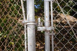 Gray wire fence connector