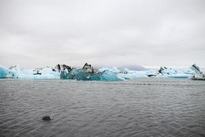 Jokulsarlon glacier lagoon in Iceland photo