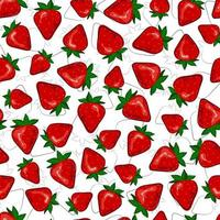 Seamless sweet strawberry. Bright print for summer clothes. vector