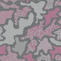 Camouflage graphic print. Creative vector texture. Pink repeated color vector camouflage with squares. Seamless Pattern.