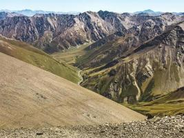 Tranquil Atsunta pass panorama with Tusheti highlands