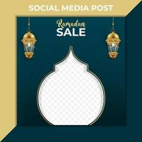 ramadan sale marketing banner. Editable social media post template with photo for promotion. vector