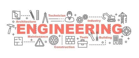 engineering vector banner