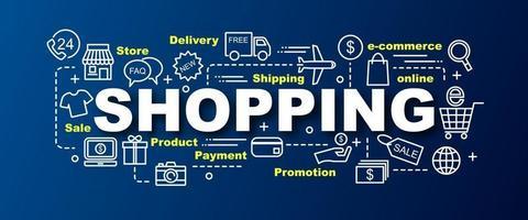 shopping vector trendy banner