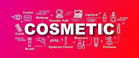 cosmetic vector trendy banner