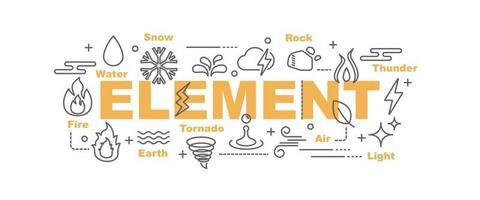 element vector banner