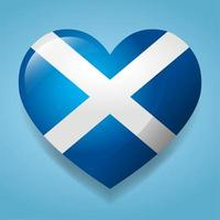 heart with Scotland flag symbol illustration vector