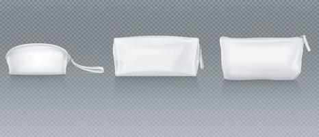 Bag of White Glittering Color vector