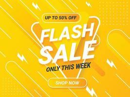 Flash sale horizontal banner background vector