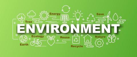 environment vector trendy banner