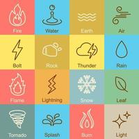 elements outline design vector
