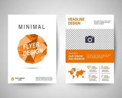 orange polygon flyer a4 template