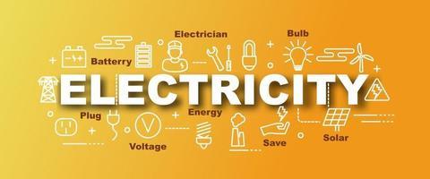 electricity vector trendy banner