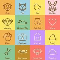 pet outline design vector