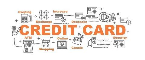 banner de vector de tarjeta de crédito