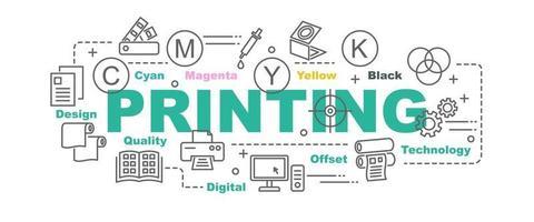 printing vector banner
