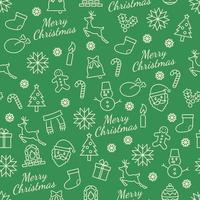 navidad, seamless, patrón, con, línea, iconos vector