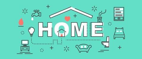 home outline banner vector