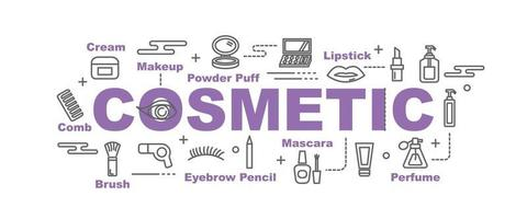 cosmetic vector banner
