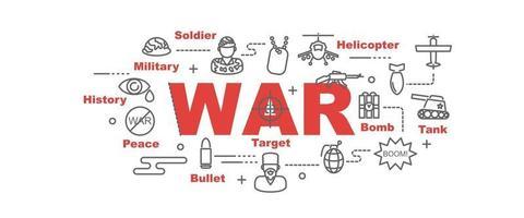 war vector banner
