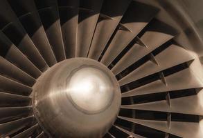 Airplane turbine close-up photo