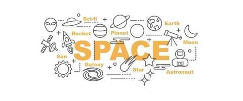 banner de vector de espacio
