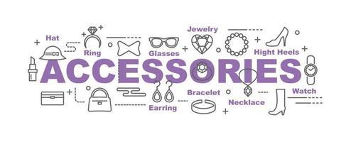 accessories vector banner