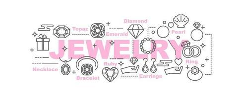 jewelry vector banner