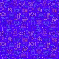 restaurant seamless pattern background vector